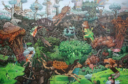 Kebun binatang, 200 x 300cm, Acrylic on canvas, 2014