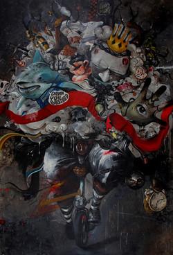 THE GREAT - 300 x  200 cm - tahun 2016 - Acrylic and spray paint on canvas - crop