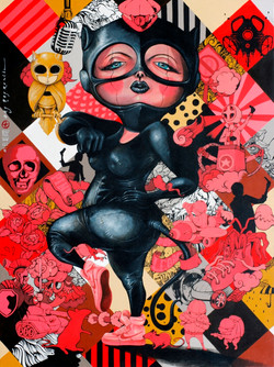 OKY REY MONTHA - BLACK IS THE NEW PINK - 200 x 150 cm - 2017 - Acrylic on Canvas