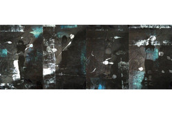 Erika Ernawan - Room nr.2 ( Ican      -Zico, Alin Fajar ) - 53 x 80 cm ( 4 panels ) 2017 - Acrylic d