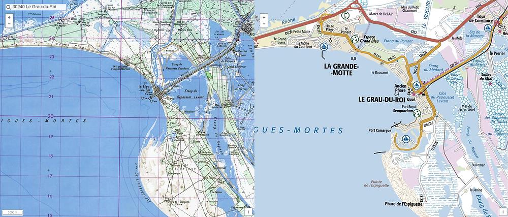 littoral d'Aigues-Mortes au fil du temps
