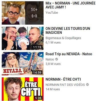 vignettes tendances youtube
