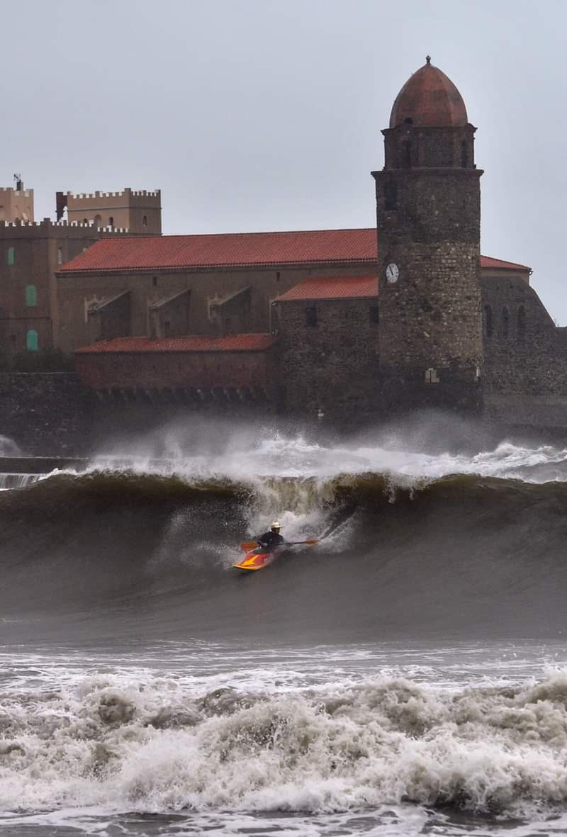 gros temps sur Collioure