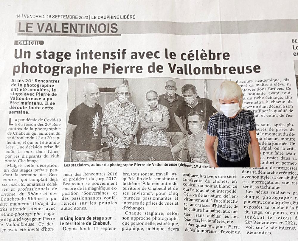 les cinq photographes masqués réunis autour de Pierre de Vallombreuse + moi