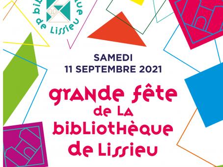 Je serai présente à la fête de la bibliothèque, le 11 septembre à Lissieu