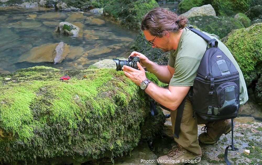 photographe au bord de l'eau; photo véronique Robert