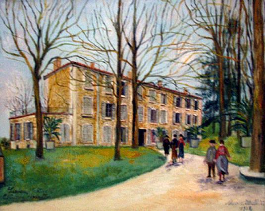 peinture du château de Montvallon à Lissieu