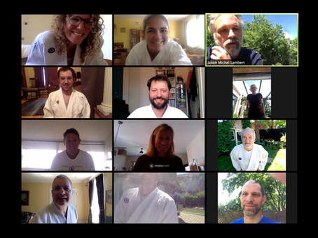 Aïkido International virtual training via Zoom