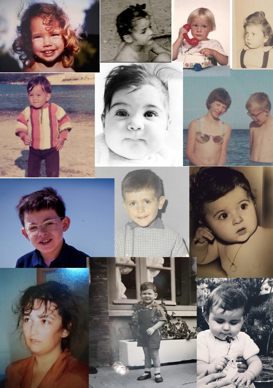 collage de photos trouvées sur facebook, partage de photos d'enfants