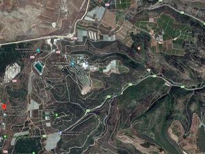 photo aérienne du kibboutz Bar'am google maps