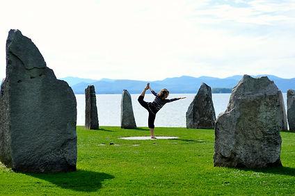 Serene environment yoga