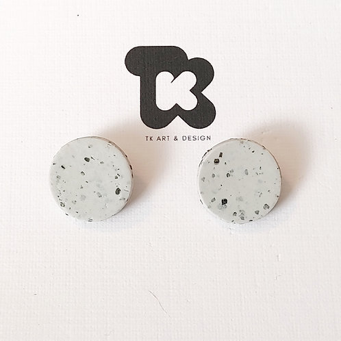 Small Graphite Disc Earrings