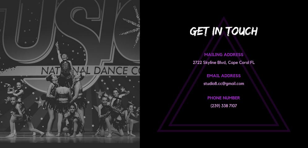 Contact Studio 8 Dance