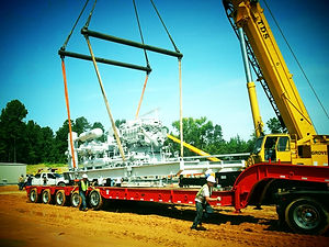 compressor lift safety rigging