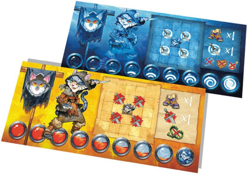 Character board, living and ghost sides