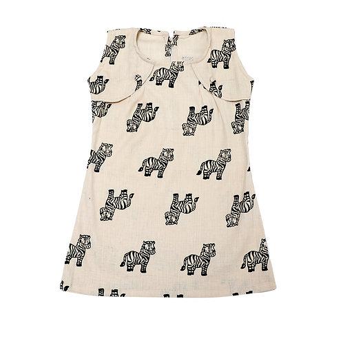 Alert Zebra Organic Cotton Stylish Dress