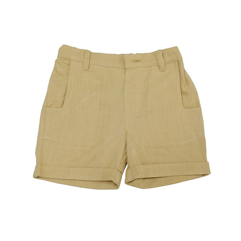 Unisex Organic Cotton Yellow Shorts