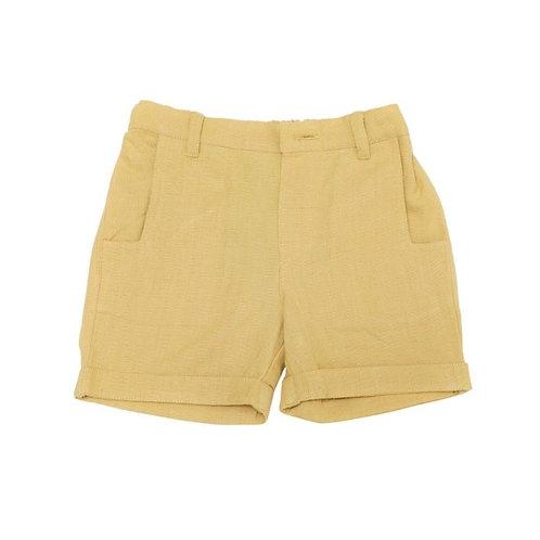 Unisex Organic Cotton Yellow Shorts
