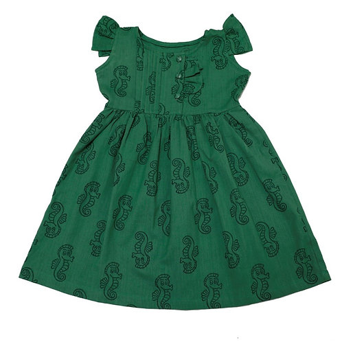 Aquatic Sea Horse Organic Cotton Dress