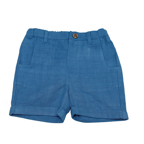 Unisex Organic Cotton Blue Shorts