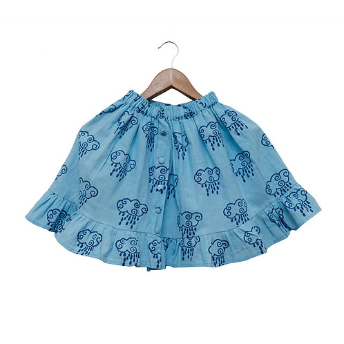 Rain Filled Clouds Organic Cotton Skirt