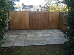 Large 16'by10' shed patio laid
