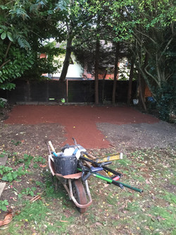 Sharp sand laid ready for slabs