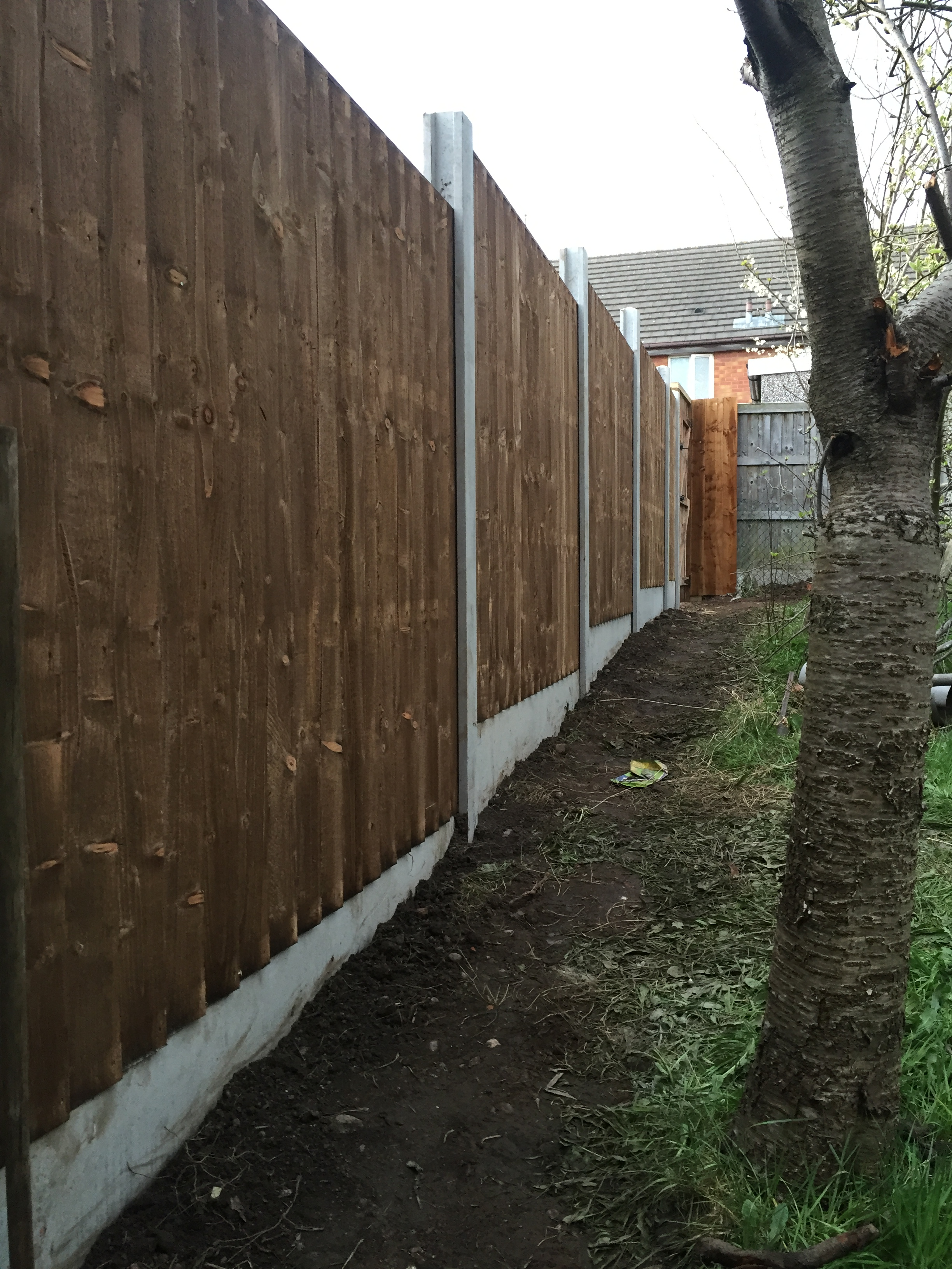 After pic of 6ft high timber fence