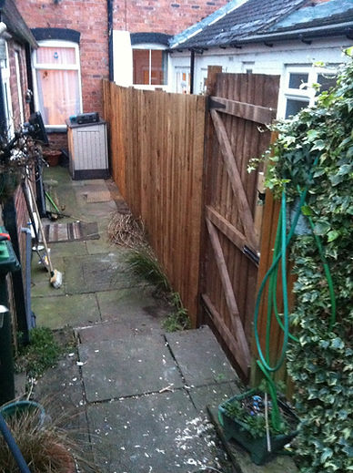 new fence and gates fitted up in my area smethwick