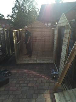 Shed almost constructed