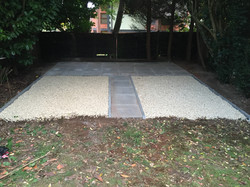 Shed base, patio, path with cotswold