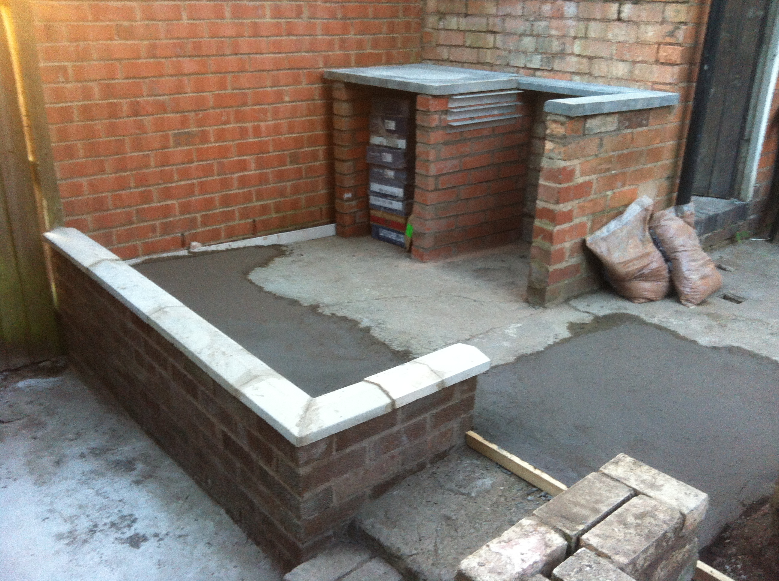 Garden building work finished