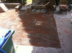 Picture of patio before