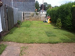 jet washed decking and cut lawn down in height