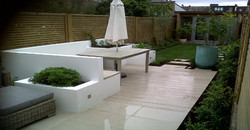 finished project of garden renovate