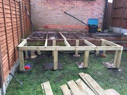Decking framework extended