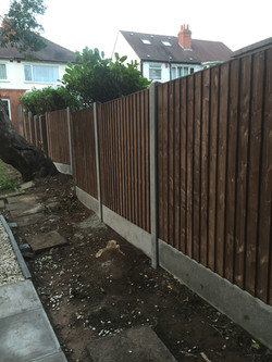 6ft high fence erected down side