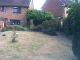 picture of cleared garden, charged customer by the day rate