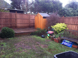 Shed fully constructed, with fence