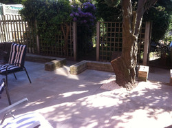 Patio complete after picture