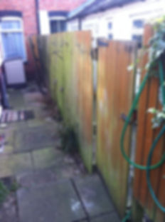 old broken fence and gate removed for a more stronger fence in bearwood smethwick