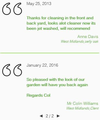 Heres a few more feedback reviews left by our clients in the sandwell area