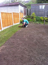 roll turf and prep of garden for returfing in oldbury