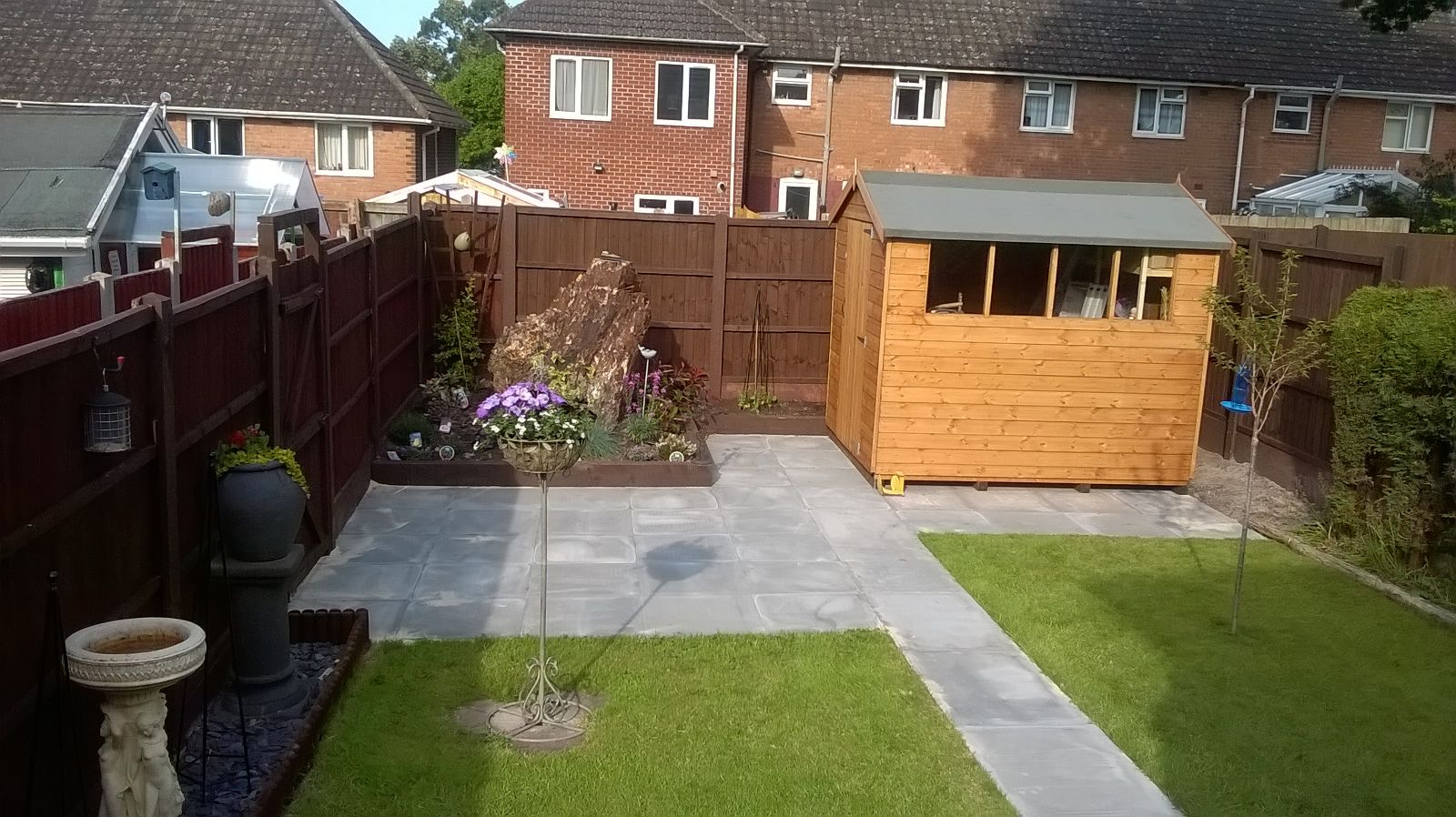 Garden completely re landscaped