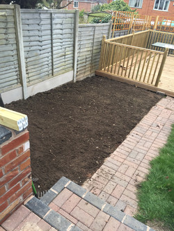 Uneven lawn removed in harborne