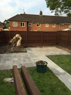 All 2'by2' slabs laid down