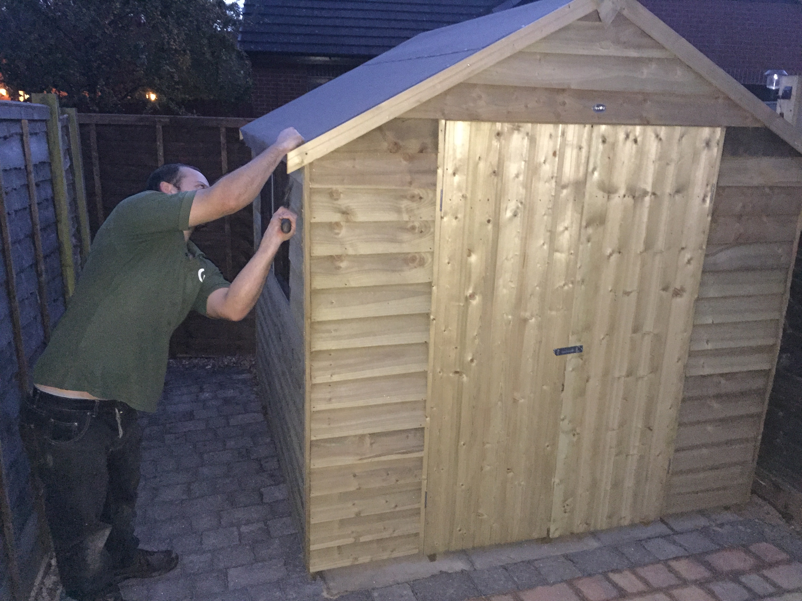 Finishing touches to shed build
