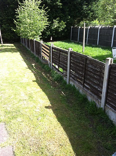 old rotten small fence replaced with new bigger 6ft panels and posts in selly oak