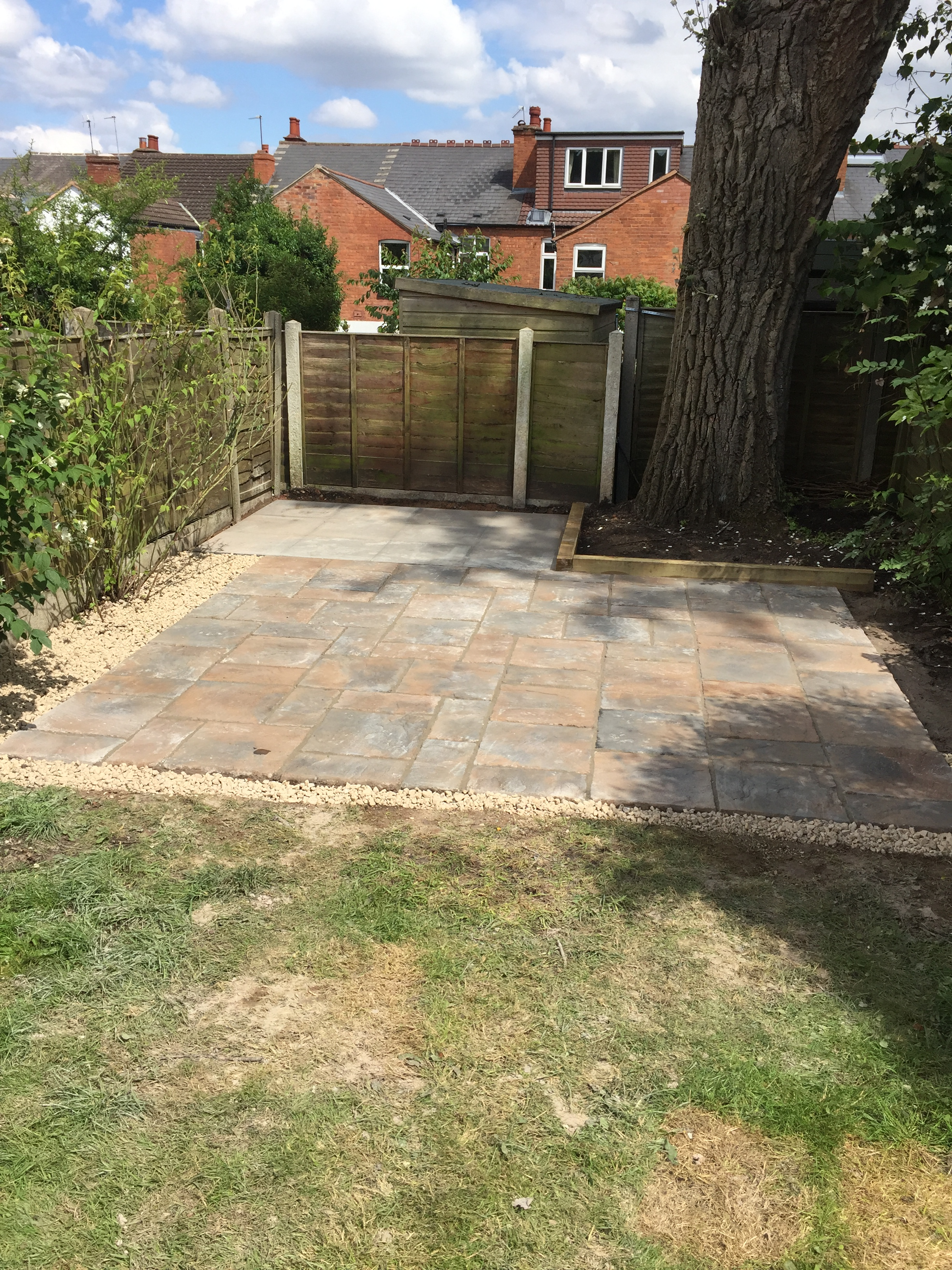 Patio, shed base and garden sleepers