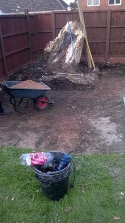 Ground work undertaken for base